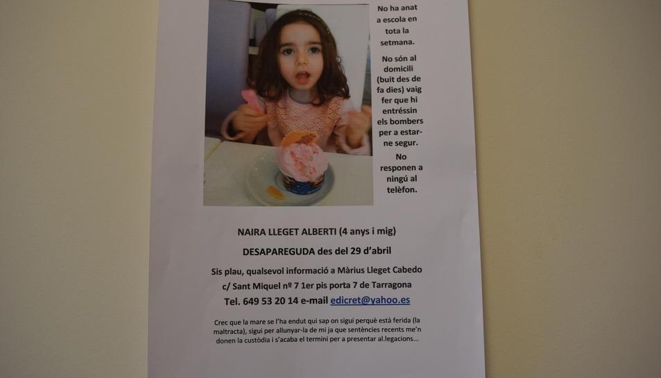 Denuncia el segrest de la seva filla de 5 anys en mans de l'exdona