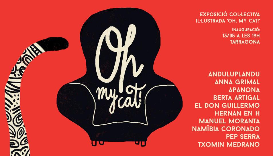 Felins il·lustrats es reuneixen a l'exposició 'Oh, my cat!'