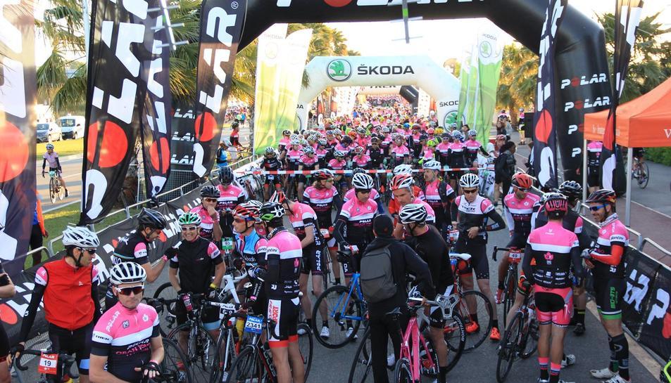 Més de 6.300 ciclistes han participat a la marxa.