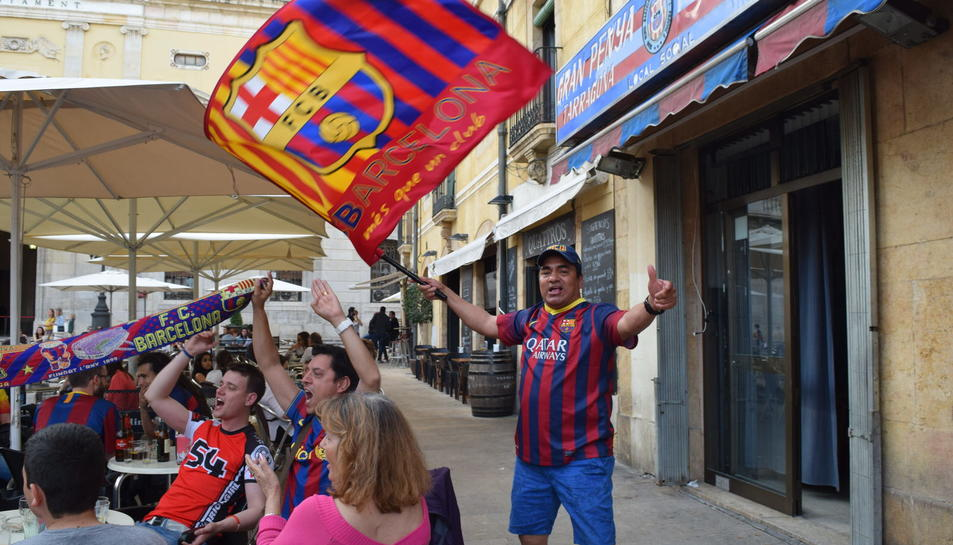 Enguany, la plaça de la Font no ha celebrat la lliga del Barça.