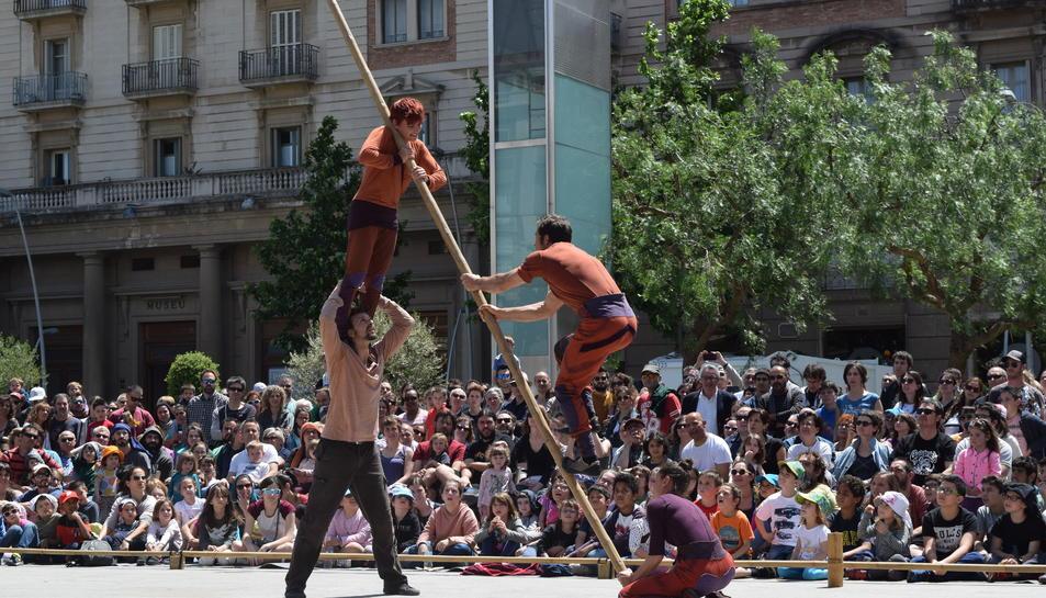 Un dels millors espectacles de la fira del circ va ser 'Vincles' de la companyia mallorquina Circ Bové.