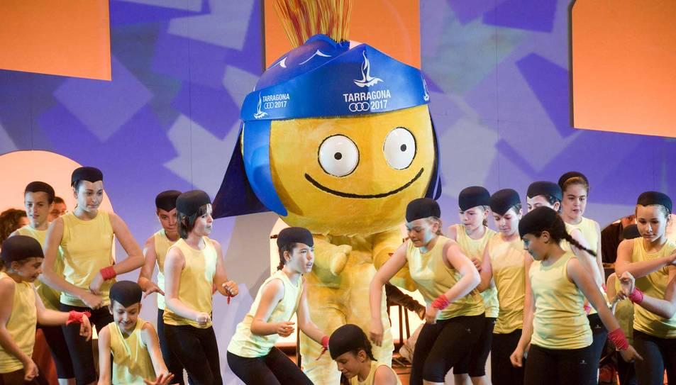 Presentación de Tàrracus, la mascota de los Juegos Mediterráneos 2017