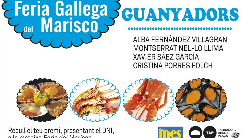 Consulta els guanyadors de les mariscades per la Fira del Marisc de la TAP