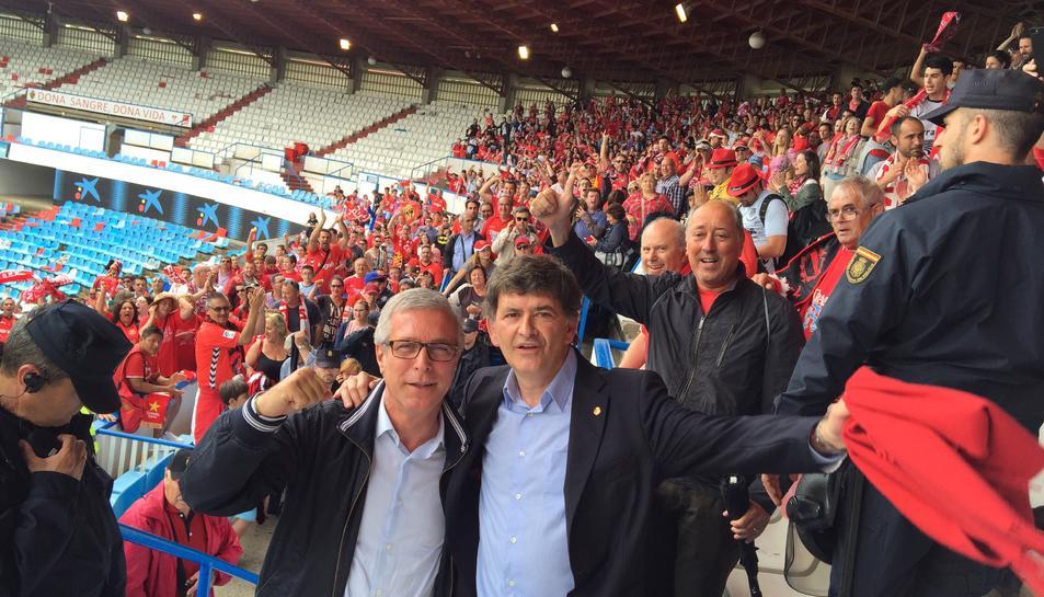 Josep Maria Andreu i l'alcalde Ballesteros