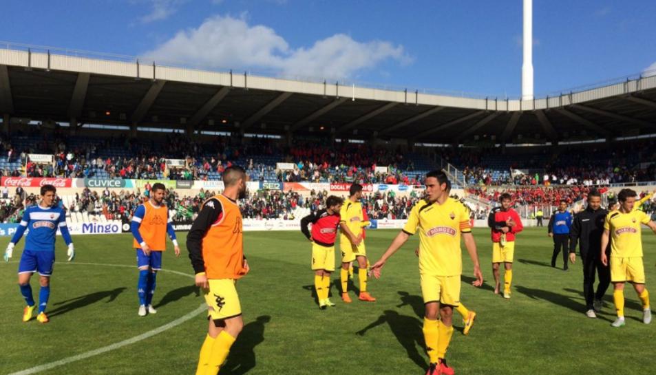 Alguns aficionats del Racing de Santander han marxat abans d'acabar el partit.