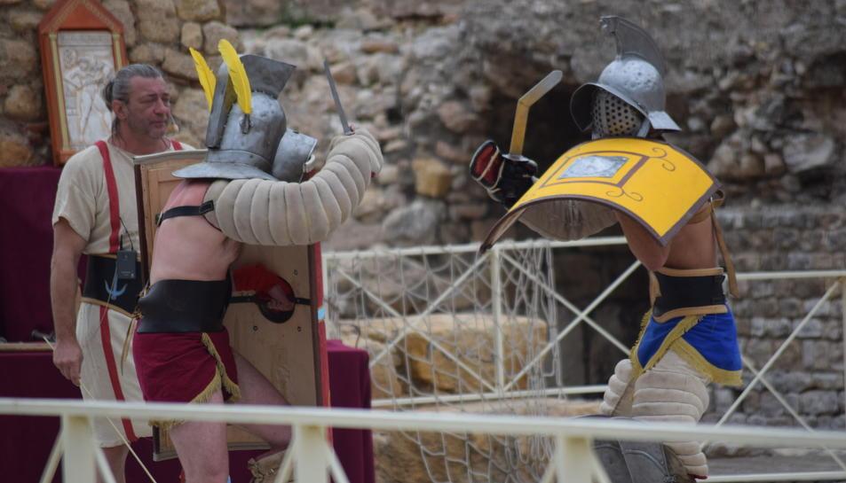 La lluita de gladiadors és un dels actes més exitosos del festival Tarraco Viva.
