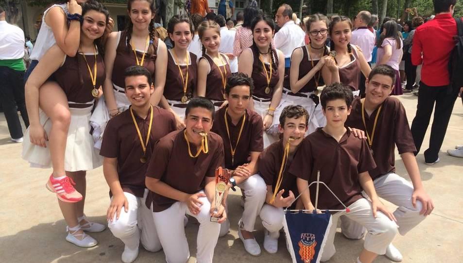 La colla Petits Tarragona Dansa, líders al campionat sardanista de Catalunya