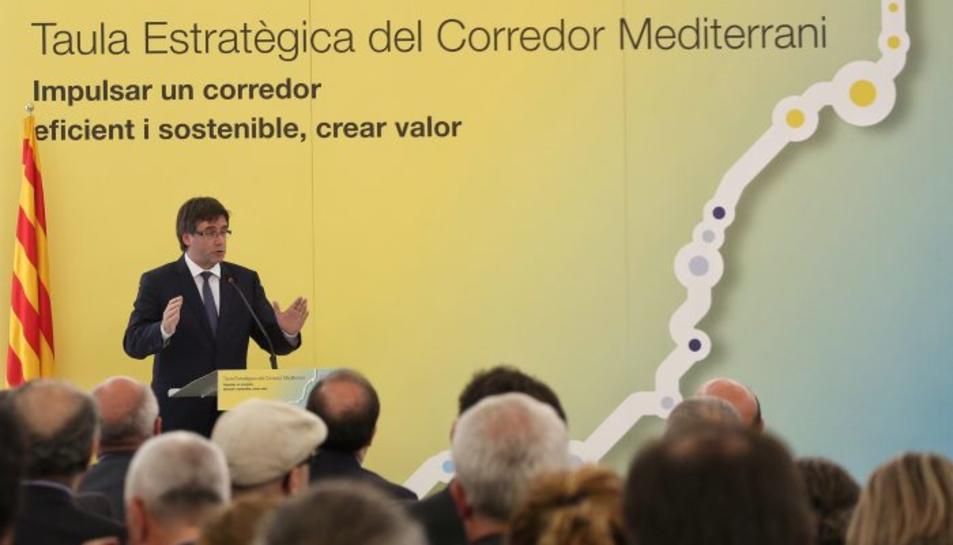 Puigdemont reivindica que el Corredor Mediterrani és una «prioritat inajornable»