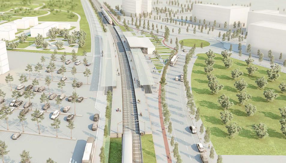 Imatge virtual de la nova estació de trens a Reus.