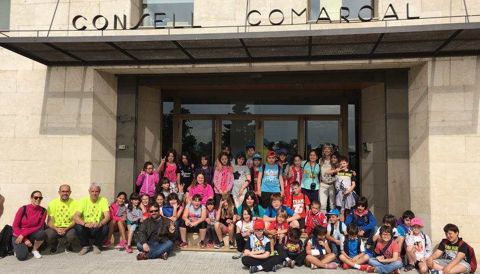 Alumnes de l'escola de Flix visiten el Consell Comarcal