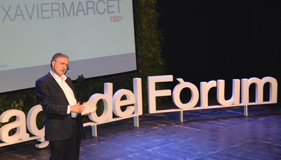 Xavier Marcet ha estat l'encarregat de donar el tret de sortida al TEDx Plaça del Fòrum.