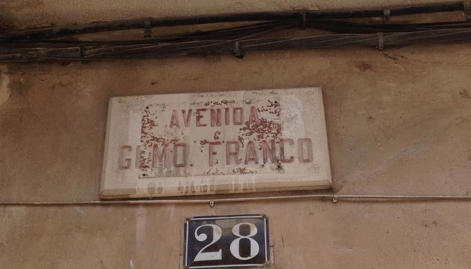Imatge de la placa retirada.