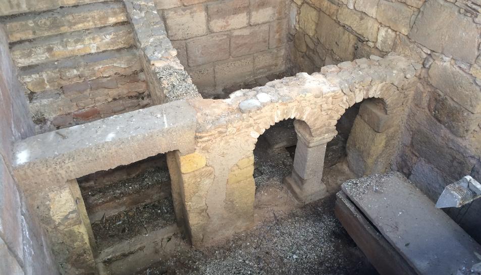 Restes de la Basílica de Sant Fructuós, ubicades a la Necròpoli.