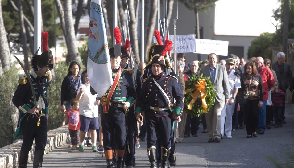 Mig centenar de persones han participat a l'acte de commemoració.