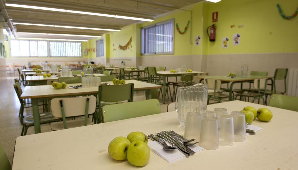 Els menjadors escolars també serveixen com a eina per aprendre d'una alimentació equilibrada.