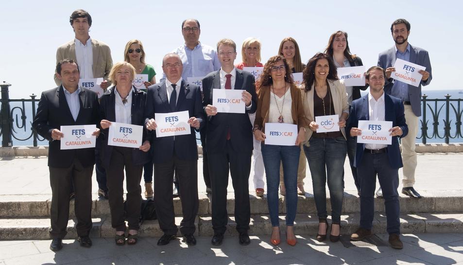 Membres de la candidatura que presenta Convergència a les eleccions del 26 de juny.