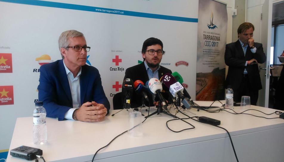 Josep Fèlix Ballesteros i Javier Vilamayor han comparegut davant dels mitjans de comunicació per informar sobre la situació dels Jocs.