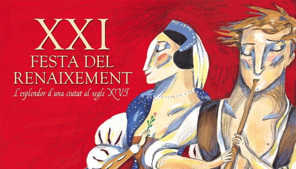 El cartell de la XXI Festa del Renaixement de Tortosa, inspirat en una història d'amor