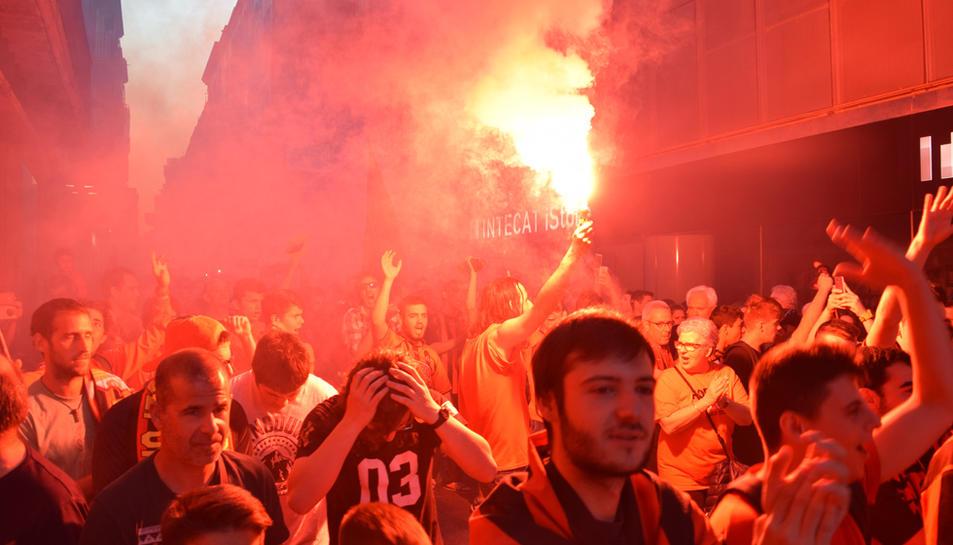 Rua de celebració de l'ascens del CF Reus 05