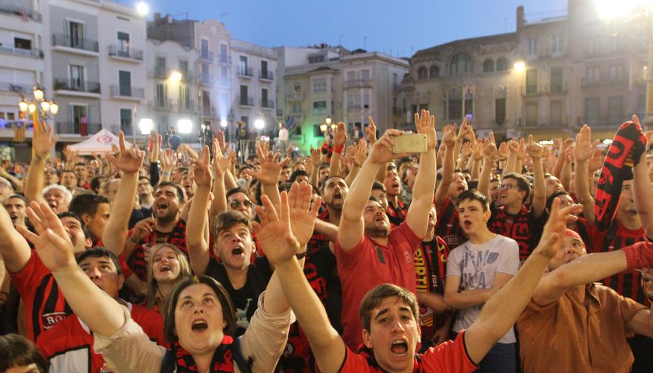 Rua de celebració de 'ascens a Segona A del CF Reus Deportiu