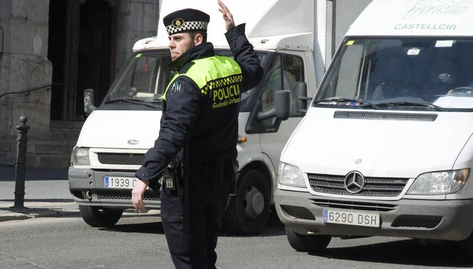 Imatge d'arxiu d'un agent de la Guàrdia Urbana de Tarragona.