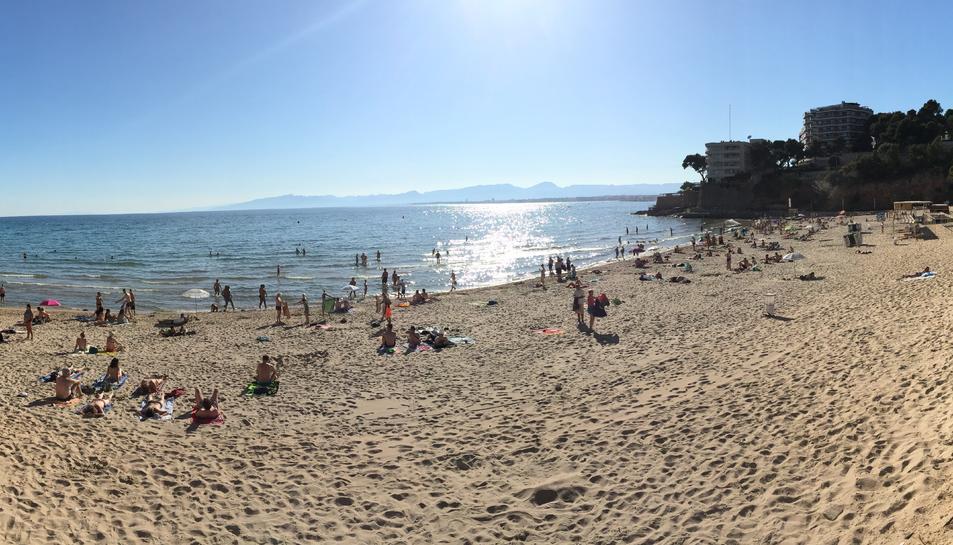 La platja dels Capellans de Salou