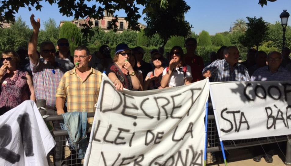 Moments de la manifestació a Barcelona.