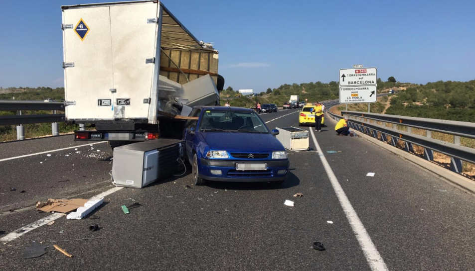 L'accident ha tingut lloc a la carretera N-340 a l'altura de Torredembarra.