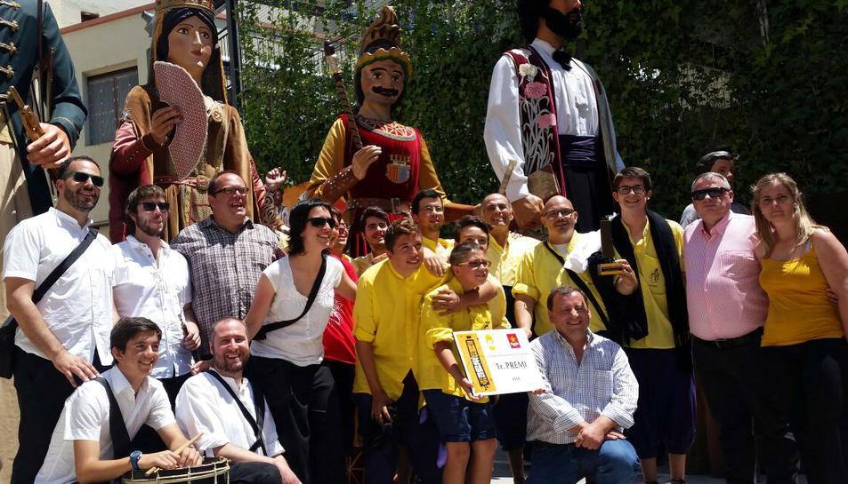 La colla Gegantera de l'Arboç guanya el Concurs de Balls de Gegants de Catalunya