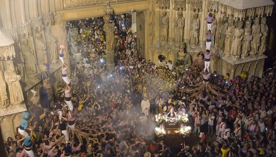 Els Xiquets de Tarragona només podran portar gots d'aigua a les professons de Sant Magí i Santa Tecla