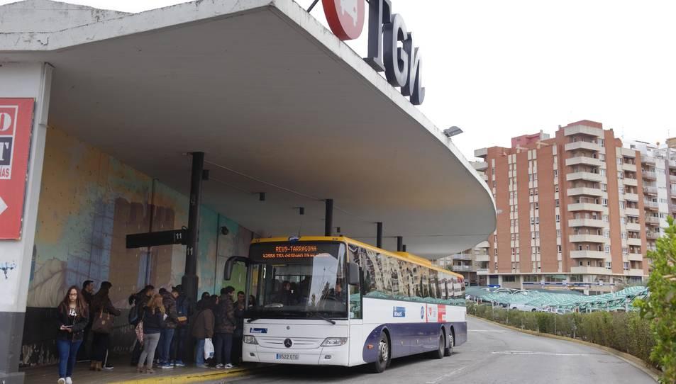 Estació d'autobusos de Tarragona, a la Imperial Tarraco.