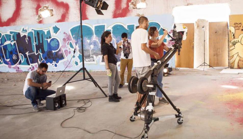 Imatge d'un dels treballs de rodatge de la productora.