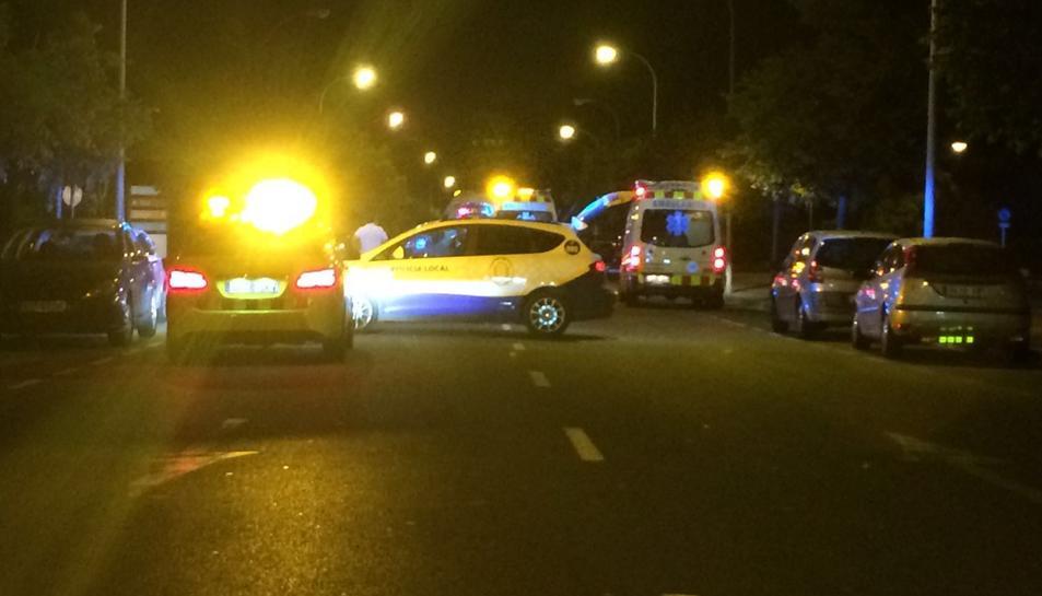 Un motorista resulta ferit en colisionar contra un cotxe a Vilafortuny