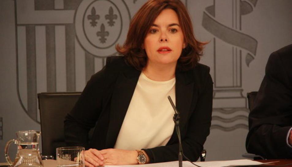 Soraya Sáenz de Santamaría, vicepresidenta del govern espanyol.