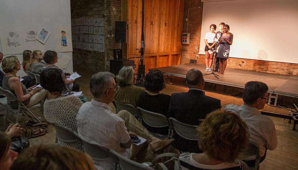 Una imatge de la presentació de les propostes, a Cal Massó.