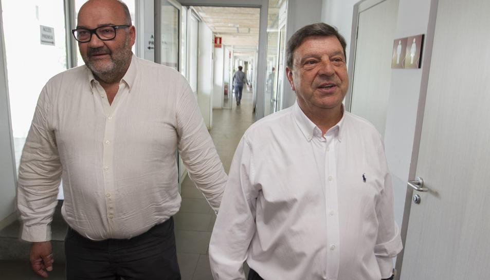 El màxim accionista i Conseller Delegat del CF Reus, Joan Oliver, i el president, Xavier Llastarri.