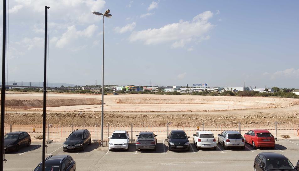 Espai on s'ubicarà el Palau d'Esports.