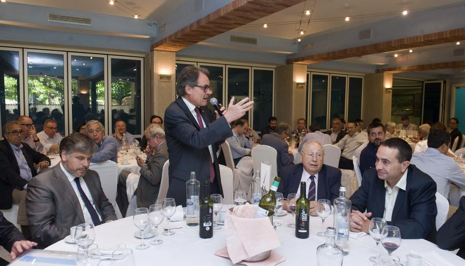 Artur Mas en el dinar amb empresaris i polítics.