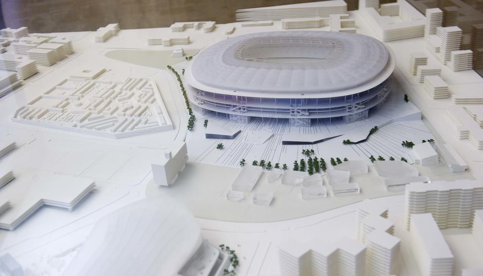 Maqueta del projecte del nou Camp Nou.