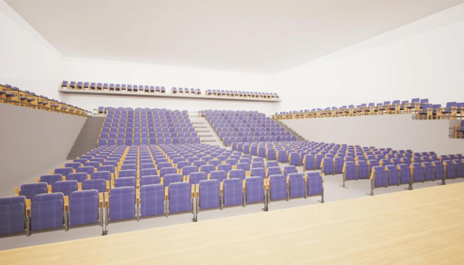 Imatge virtual de com quedarà el Centre Cultural de Valls.