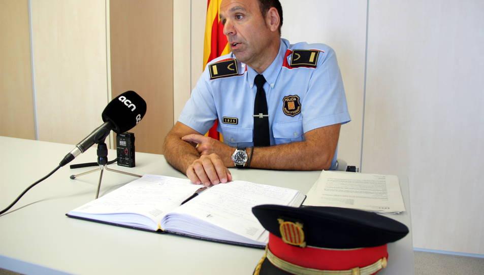 Pla obert de l'inspector cap de l'Àrea Investigació Criminal de la Regió Policial Camp de Tarragona, Joan Mulet, durant una entrevista a l'ACN, publicada el 18 de juny de 2016