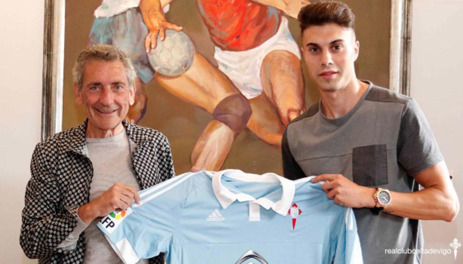 Carlos Mouriño, president del Celta de Vigo, i José Naranjo, firmant l'acord.