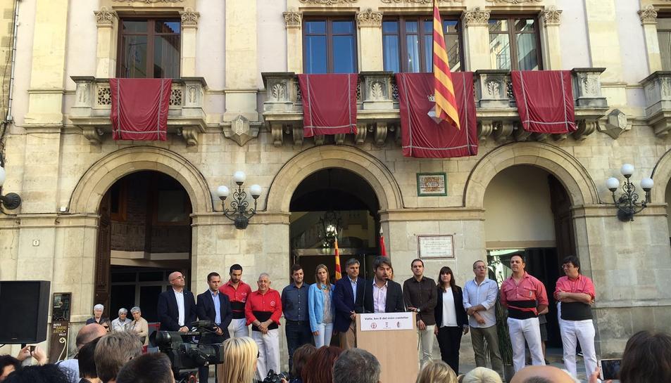 Els Administradors de la Festa Major de Vilafranca ja són Ambaixadors de les colles de Valls