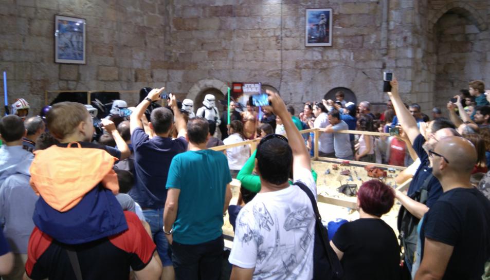 Les exposicions amb temàtica d'Star Wars van sorprendre els visitants.