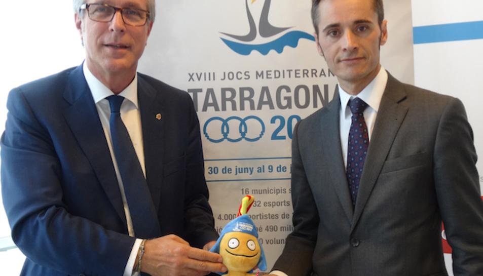Imatge de l'acte de signatura a les oficines de Tarragona 2017.