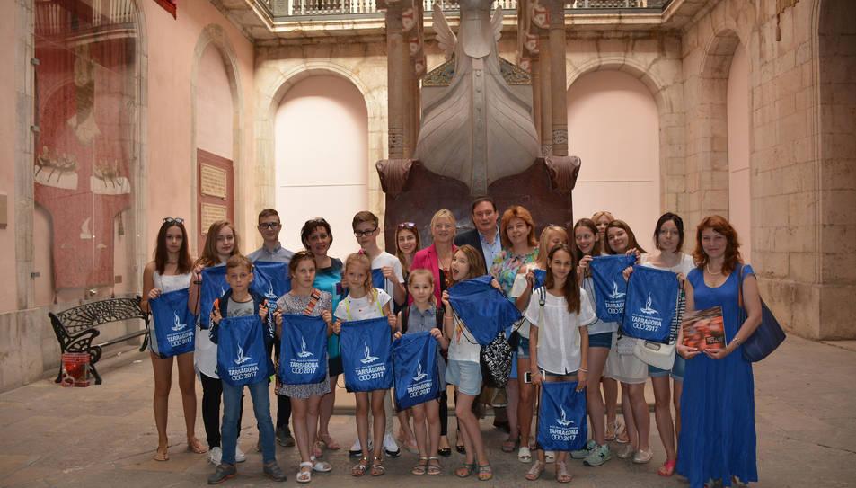 Recepció dels alumnes del Col·legi Cervantes de Moscou