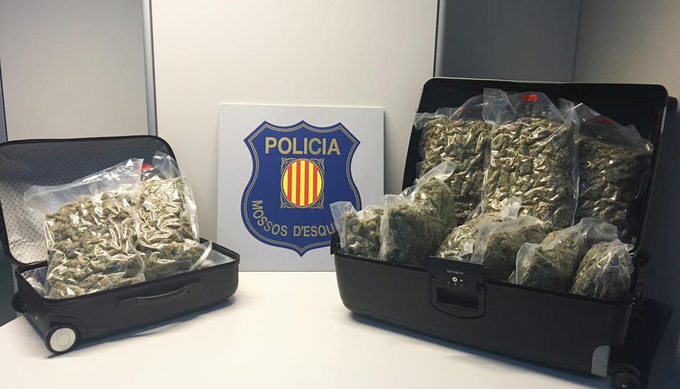 Detenen a Salou un holandès que viatjava en autocar amb 11kg de marihuana