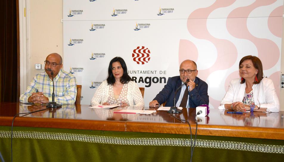 Imatge de la presentació de la iniciativa, a l'Ajuntament de Tarragona