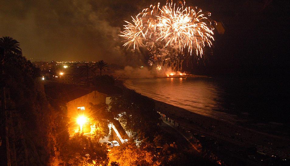 Imatge del Concurs de Focs Artificials des del Balcó del Mediterrani.