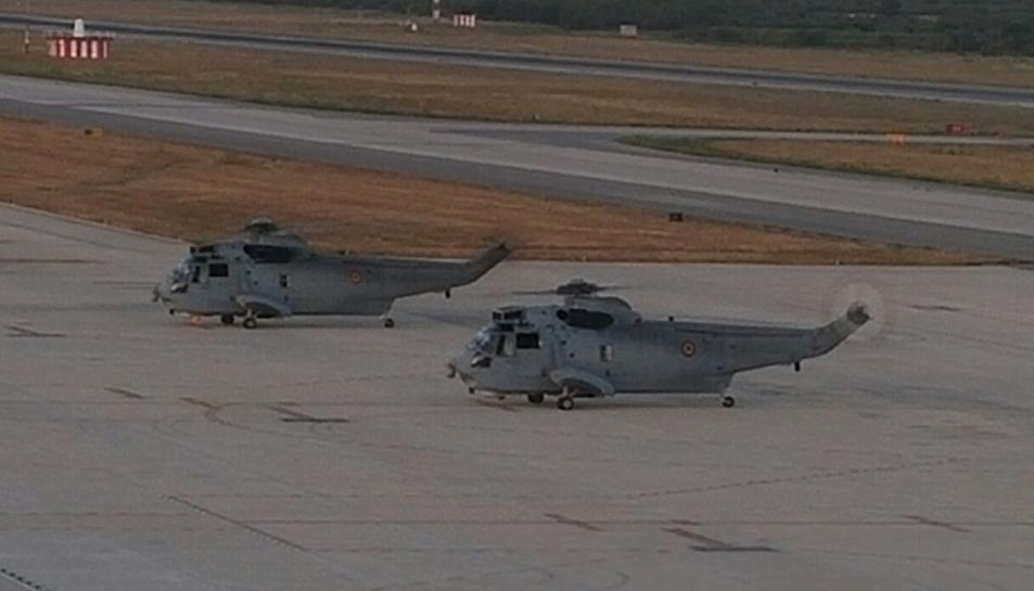 A l'exercici hi han participat dos helicòpter
